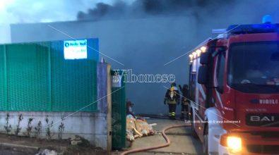 Vasto incendio in una discarica di San Nicola da Crissa