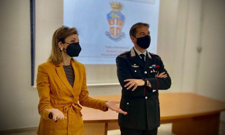 Vibo, il neo prefetto Roberta Lulli in visita al Comando provinciale dei carabinieri