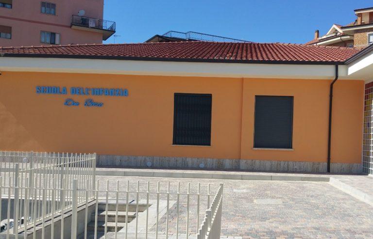 Completati a Vibo i lavori nella scuola per l'infanzia di via Palach