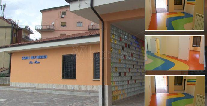 Vibo, presentati i nuovi locali della scuola d'infanzia di via Palach: «A settembre bimbi di nuovo in classe»