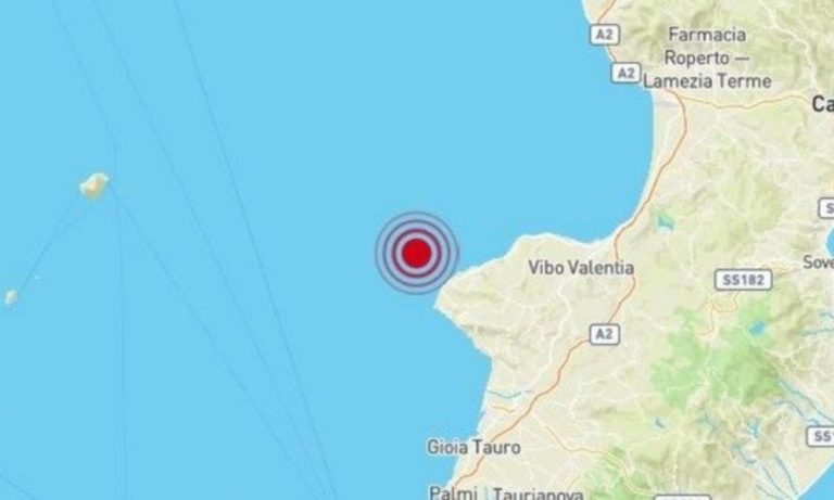 Tropea, scossa di terremoto di magnitudo 3.2 a 12 km dalla costa