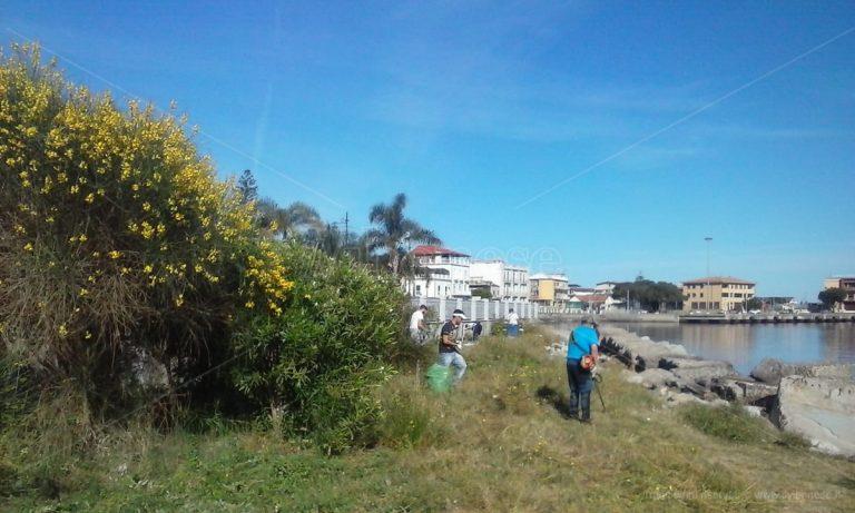 Vibo Marina, volontari in azione per pulire il lungomare Colombo