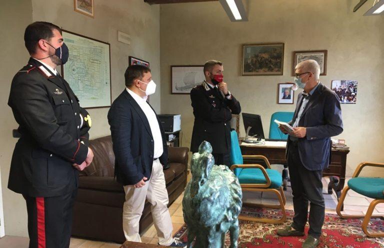 Sistema bibliotecario, Floriani e Lampasi ricevono l'Arma dei carabinieri