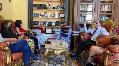 Istituto criminologia Vibo, Dalila Nesci incontra il rettore Saverio Fortunato