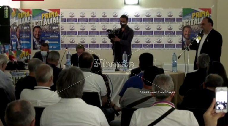 Stati generali della Lega a Zambrone, fra l'alleanza con F.I. e l'attesa per Salvini – Video