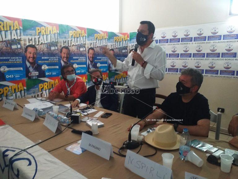 Matteo Salvini a Zambrone: «La presidenza per la Regione Calabria spetta a F.I.» -Video