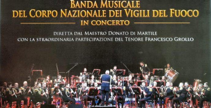 La banda musicale dei Vigili del Fuoco in concerto lunedì a Vibo Valentia