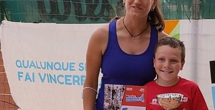 Il piccolo tennista Michele Accorinti vincitore del Torneo Kinder Under 11