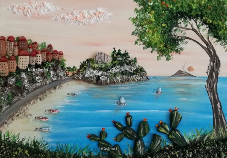 Tra sassi colorati e panorami, a Tropea la mostra sull'arte delle pietre di Meri Valenti