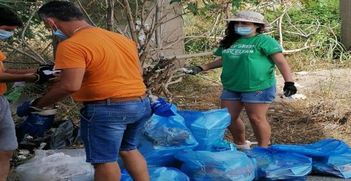 """Cessaniti, cittadini """"armati"""" di sacchi e guanti ripuliscono la strada provinciale"""