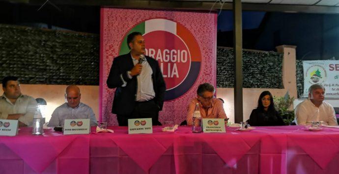 """Regionali: Toti a Serra San Bruno incontra i candidati di """"Coraggio Italia"""""""