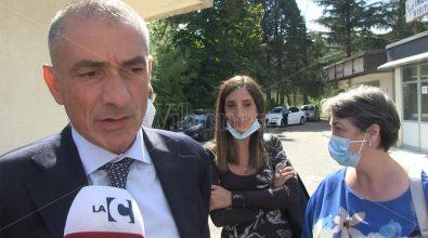 Il sottosegretario alla Salute, Andrea Costa, nell'ex ospedale di Soriano -Video