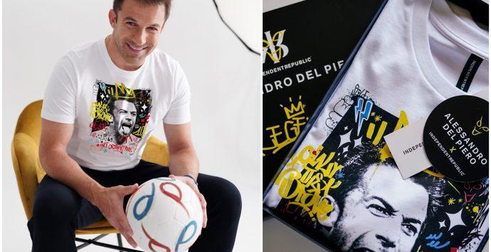 Alex Del Piero protagonista delle t-shirt made in Soriano famose in tutta Europa