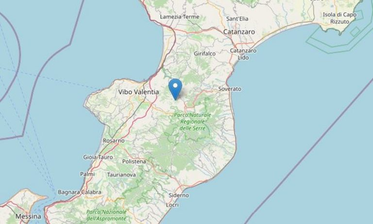 Lieve terremoto nelle Serre vibonesi: l'epicentro a Vallelonga