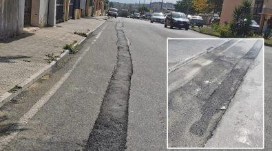Vibo, Viale Feudotto e quei lavori finiti nel mirino dei cittadini: «Lasciati avvallamenti e buche»