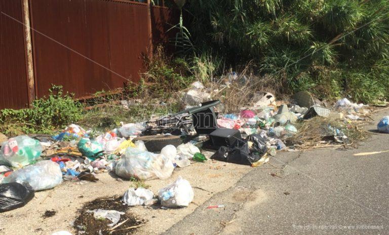 """Vibo Marina: la """"strada del degrado"""", tra rifiuti, miasmi e voragini"""