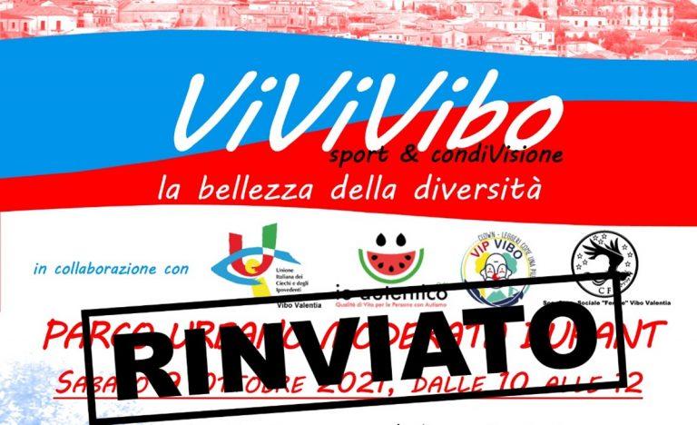 """Disabilità e inclusione, l'evento """"ViviVibo"""" rinviato a causa del maltempo"""